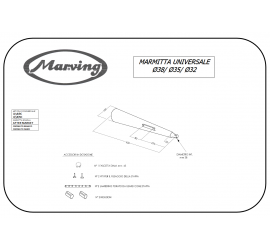Marving U/38/BC Scarichi Moto Universali