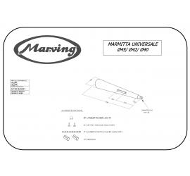 Marving U/45/BC Scarichi Moto Universali