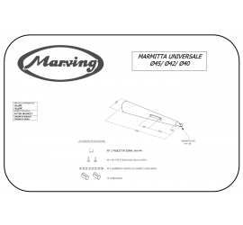 Marving U/45/NC Scarichi Moto Universali