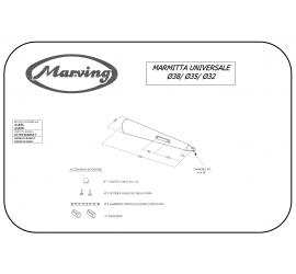 Marving U/38/NC Scarichi Moto Universali