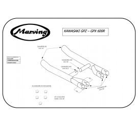 Marving K/2103/NC Kawasaki GPX 600 R