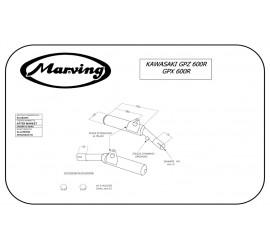 Marving K/2080/NC Kawasaki GPX 600 R