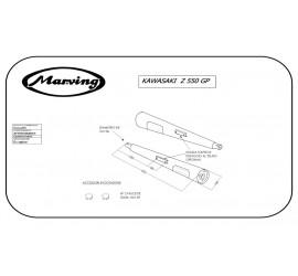 Marving K/2031/NC Kawasaki Z 550 Gp