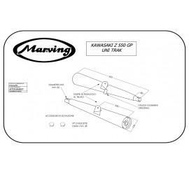 Marving K/2024/NC Kawasaki Z 550 Gp Uni-trak