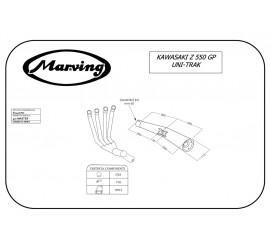 Marving K/3412/NC Kawasaki Z 550 Gp Uni-trak