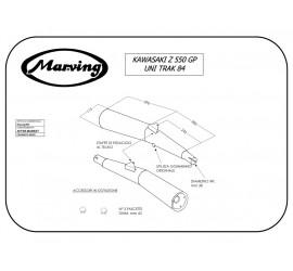 Marving K/2013/NC Kawasaki Z 550 Gp Uni-track