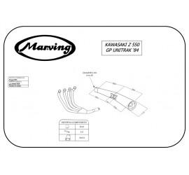 Marving K/3417/NC Kawasaki Z 550 Gp Uni-track