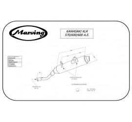 Marving K/AAA/47/BC Kawasaki Klr 600 A.e.