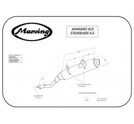 Marving EDR/16/NC Kawasaki Klr 600 A.e.