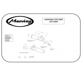 Marving K/2080/NC Kawasaki Gpz 600 R