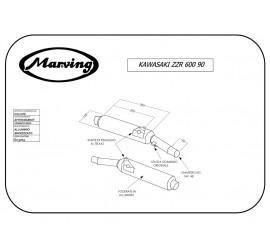 Marving K/2102/NC Kawasaki Zzr 600 90/93