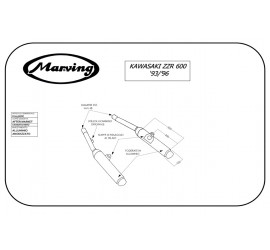 Marving K/2156/NC Kawasaki Zzr 600 93/96