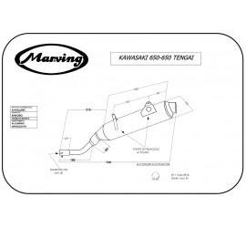 Marving K/AAA/48/BC Kawasaki Klr 650