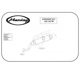 Marving K/AAA/54/BC Kawasaki Klx 650