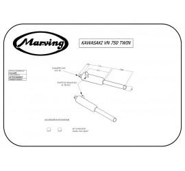 Marving K/2109/BC Kawasaki Vn 750 Twin