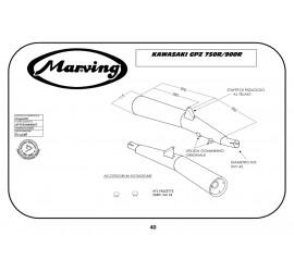 Marving K/2900/NC Kawasaki Gpz 750 R