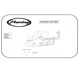 Marving K/5007/NC Kawasaki Gpz 750 R