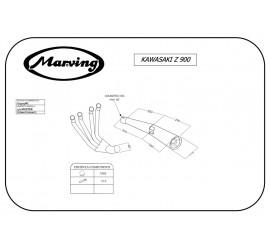 Marving K/3403/BC Kawasaki Z 900