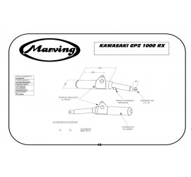 Marving K/2081/NC Kawasaki Gpz 1000 Rx