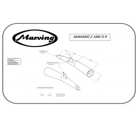 Marving K/2099/BC Kawasaki Z 1000 Ii R