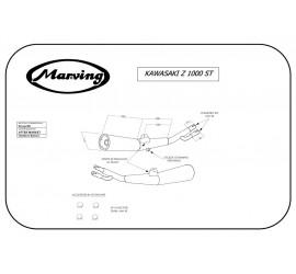 Marving K/2051/BC Kawasaki Z 1000 St