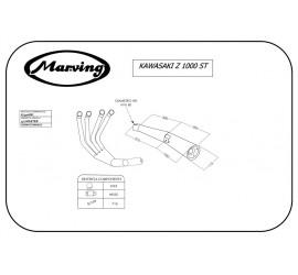 Marving K/3406/BC Kawasaki Z 1000 St
