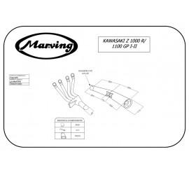 Marving K/3410/NC Kawasaki Z 1000 R
