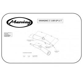 Marving K/2012/NC Kawasaki Z 1100 Gp Uni-trak