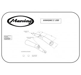 Marving K/2074/BC Kawasaki Z 1300