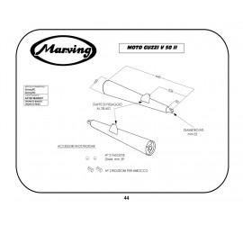 Marving G/2073/BC Moto Guzzi V 50 II