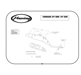 Marving EDR/5/V Yamaha Xt 550