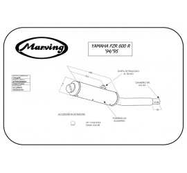 Marving Y/2139/NC Yamaha Fzr 600 Genesis