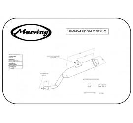 Marving Y/AAA/33/BC Yamaha XT 600 E Avv. Elet.