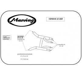 Marving Y/2143/BC Yamaha Xj 650