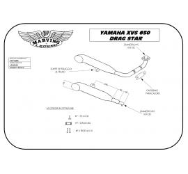 Marving Y/CP28/BC Yamaha Xvs 650 Drag Star