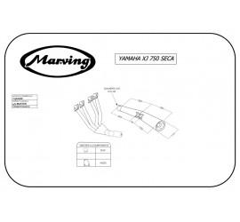 Marving Y/3606/BC Yamaha Xj 750 Seca