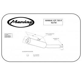 Marving Y/2137/BC Yamaha Yzf 750 R