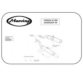 Marving Y/2147/BC Yamaha Xj 900 Diversion