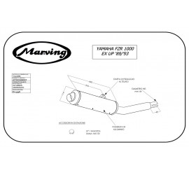 Marving Y/2126/BC Yamaha Fzr 1000 Ex-up