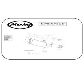 Marving Y/2160/BC Yamaha Gts 1000