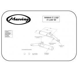 Marving Y/2084/NC Yamaha Fj 1200