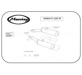 Marving Y/2124/NC Yamaha Fj 1200
