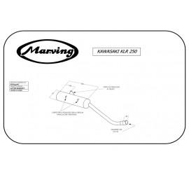 Marving EDR/24/NC Kawasaki Klr 250