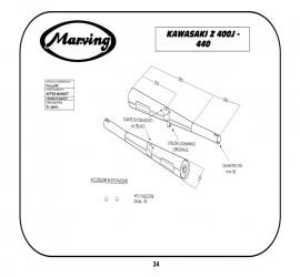 Marving K/2047/BC Kawasaki Z 440