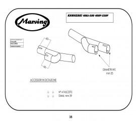 Marving K/2052/BC Kawasaki Z 400 F