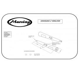 Marving K/2031/BC Kawasaki Z 500