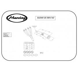 Marving S/3511/BC Suzuki Gs 500 E