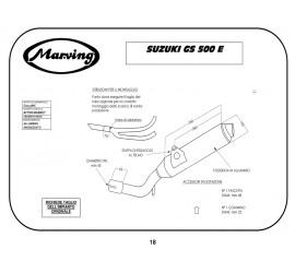 Marving S/2123/NC Suzuki Gs 500 E Bicilindrico