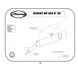 Marving S/AAA/51/BC Suzuki Dr 650 R