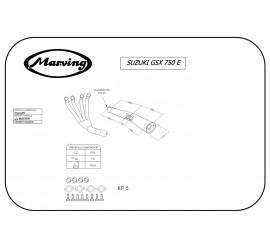 Marving S/3503/BC Suzuki Gsx 750 E